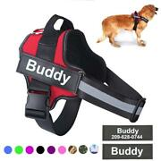 Dog Personalized Harness Reflective Small Large Adjustable Breathable Dogs