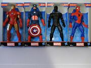 Lot Of 4 Marvel 9 Action Figures Spider-man, Iron Man, Captain America,...