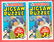 1974 Topps Jigsaw Puzzles Test Issue Wrappers Nm Both Variations