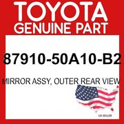 Toyota Genuine Oem 87910-50a10-b2 Mirror Assy Outer Rear View 8791050a10b2