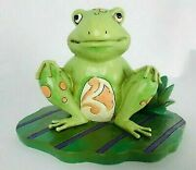 Jim Shore Heartwood Creek - Bounce With Me - Frog On A Lily Pad