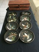 Collectible Plate On The Wing Set Of 8 Collection With Custom Box