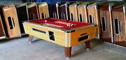 7and039 Valley Coin-op Pool Table Model Zd7 With Red Cloth Also Avail In 6 1/2and039 8and039
