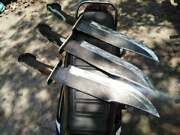 Custom Handmade High Carbon Steel 1095 Bowie Knife With Stag Horn Handle