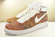 Ds 2016 Nike Air Force 1 Ultra Flyknit Mid Multicolor Rainbow 8.5 -13 Safari