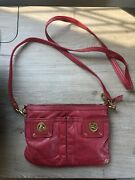 Marc By Marc Jacobs Red Leather Totally Turnlock Percy Crossbody/clutch Bag
