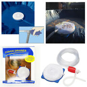 Drain For Winter Pool Cover Drainer - Above-ground Pool Cover Siphon Drain Pump