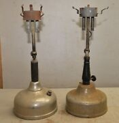 2 Antique Double Mantle Table Lantern Lamp Coleman And Thomas Kerosafe Collectible