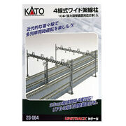 New Kato 23-064 Catenary Poles Four Track 10 N Scale Free Us Ship