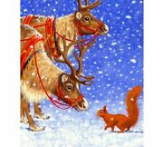 Diy Diamond Painting Reindeer And Squirrel Design House Wall Displays Embroidery