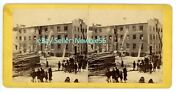 Norwich Conn Ct -henry Peale-sash Bind And Door Factory Fire- C1870s Stereoview
