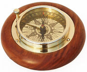 Stanley London Engravable Brass And Wood Desk Compass For Menchristmasboy Gift
