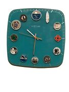 Canadian Theme Silver Coins Art Clock Rcm With And Certificatesof Authentication