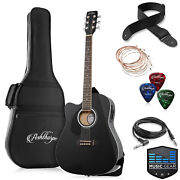 Full-size Left-handed Dreadnought Cutaway Acoustic-electric Guitar With Bag And Eq