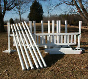 8 Jump Package 49pc Horse Jumps 5ft White - Reg 3772
