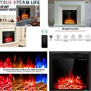 Electric Fireplace Heater Insert Wall Mount Stand With Remote Control 1500w 26