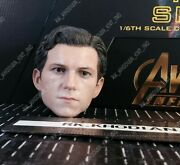 Hot Toys Mms482 Iw Iron Spider-man 1/6 Tom Holland Action Figureand039s Head Sculpt