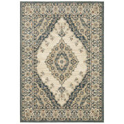 Sphinx Beige Petals Bulbs Leaves Transitional Casual Area Rug Medallion 8020w