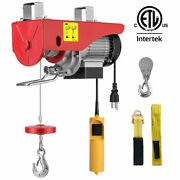 Electric Lifting Hoist Pulley Winch W/ Remote Control 440lbs 110v Etl Certified