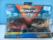 Monster Jam Double Down Showdown Northern Nightmare And Sasquatch 2-pack, New