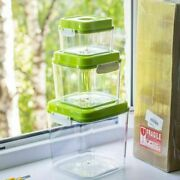 Vacuum Containers With Large Capacity Food Saver Storage Square Plastic And Pump