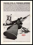 1959 Colt Hartford Ct Coltsman Hunting Rifle And Coltmaster Scope Vintage Print Ad