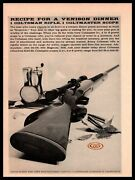 1959 Colt Coltsman Hunting Rifle And Coltmaster Scope Hartford Ct Vintage Print Ad