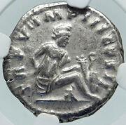 Lucius Verus Authentic Ancient Rome Silver Roman Coin Parthia Victory Ngc I86401