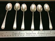 Walker And Hall Sterling Spoons Set Of 6