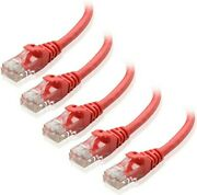 Cable Matters 5-pack Red Cat6 Snagless Ethernet Patch Cable 3 Ft. New