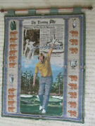 Vintage Jack Nicklaus Wall Tapestry Return To Glory Lists All Major Wins Nice