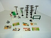 Lot Of Plasticville For Your O Gauge Train Lionel Or American Flyer Layout