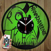 Led Vinyl Clock Frankenweenie Led Wall Decor Art Clock Original Gift 1111