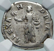 Hadrian Travels To Alexandria Authentic Ancient Silver Roman Coin Ngc I86391