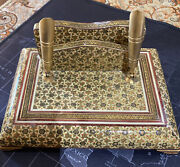 Handcraft Office Decorative Box Use For Pens And Paper Holding- Isfahan Vintage