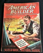 1921 American Builder The Worldand039s Greatest Building Paper-dec Great Pics Ads