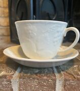 Burleigh Davenport White Breakfast Cup And Saucer