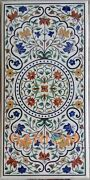 22x42and039and039 Collectible Marble Top Dining Table Multi Floral Inlay Art Decors W222