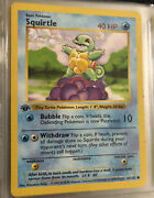 Pokemon Squirtle 1st Edition Base Set Possible 9