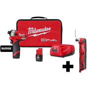 12 Volt Lithiumion Brushless Cordless 1/4 Hex Standard Impact Hydraulic Driver