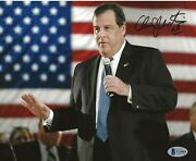 Chris Christie New Jersey Governor Signed 8x10 Photo Autographed 3 Bas Beckett