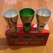 3 Coca-cola Tumblers Olympic Games Not For Sale Lightweight Metal Tokyo Olympics