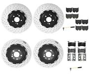 Brembo Front And Rear Full Brake Kit Disc Rotors Low-met Pads For Mb R230 Sl65 Amg