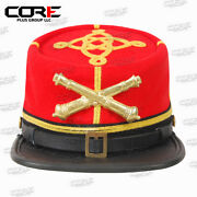 Confederate Artillery Captain Leather Peak Kepi With Metal Badge All Sizes