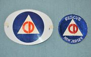 Post Wwii Civil Defense Armband And Rescue New Jersey Patch