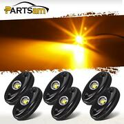 6x Yellow 9w High Power Led Rock Rig Light Kit For Jeep Truck Suv Off-road Boat