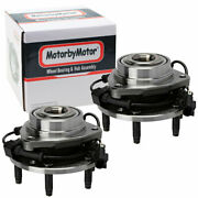 2 Front Wheel Hub And Bearing W/abs For 2002 2003-2009 Gmc Envoy Chevy Trailblazer