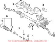 Genuine Oem Rack And Pinion Assembly For Bmw 32101543715