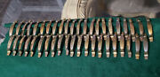 43 Pieces Of Vintage Kbc Brass Plated Cabinet, Drawer, Cupboard Pulls.