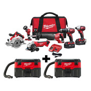 18 Volt Lithium Ion Cordless Combo Tool Kit 6 Tool Two Gallon Wet Dry Vacuums